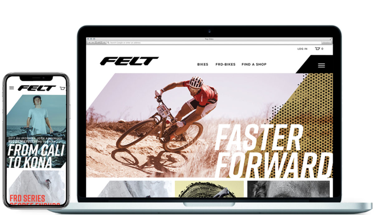 felt bikes ecommerce website designers
