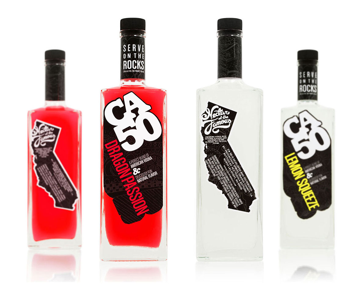 Vodka labels, spirits branding and  naming
