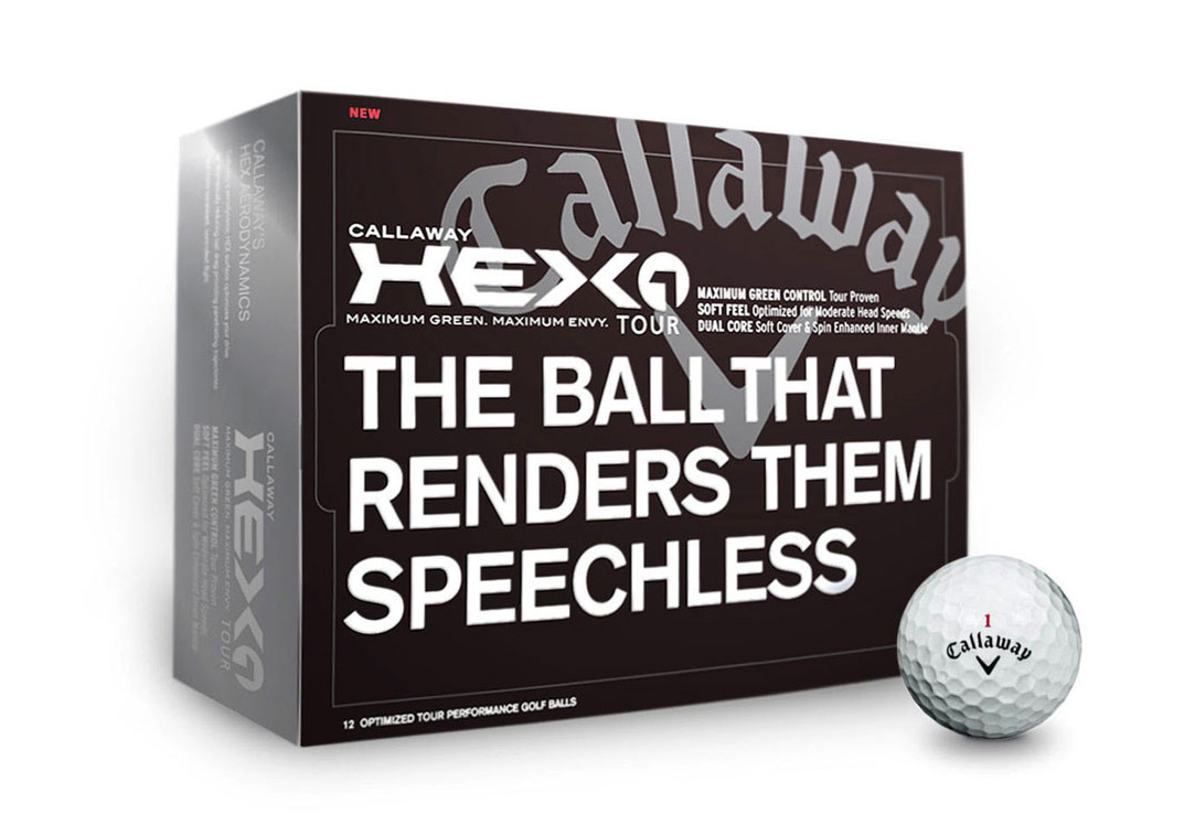 Callaway Golf Balls box packaging concepts